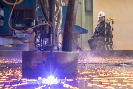 First Steel Cut For Two Luxury River Yachts For Crystal River Cruises At MV WERFTEN