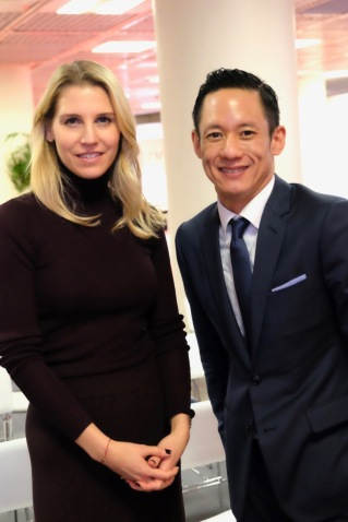 Robert Cheng, VP of Brand Marketing and Communications, and Patricia Rosentreter, Corporate Director of Brand Communications, Americas & Europe, for Rosewood Hotel Group